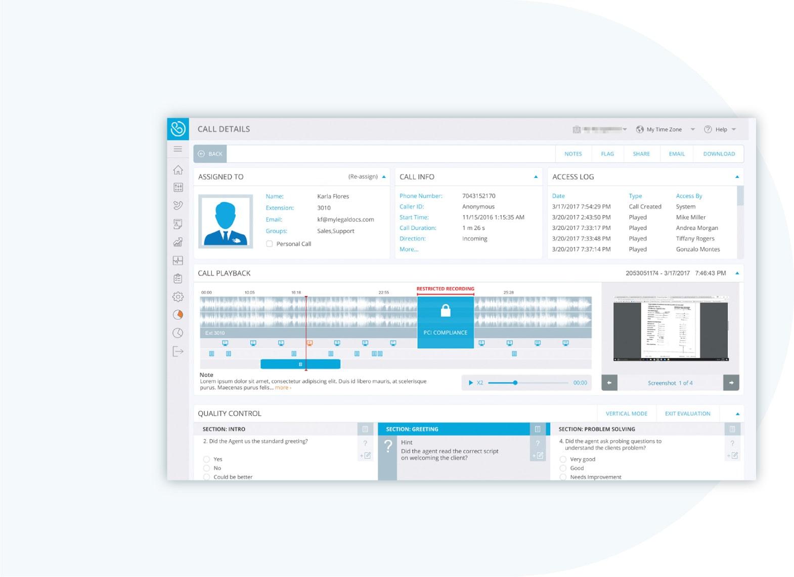 Atmos Compliant Call Recording Software