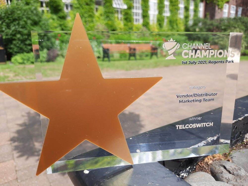 TelcoSwitch Wins 'Best Vendor Marketing Team' Award for Supporting Channel Partners