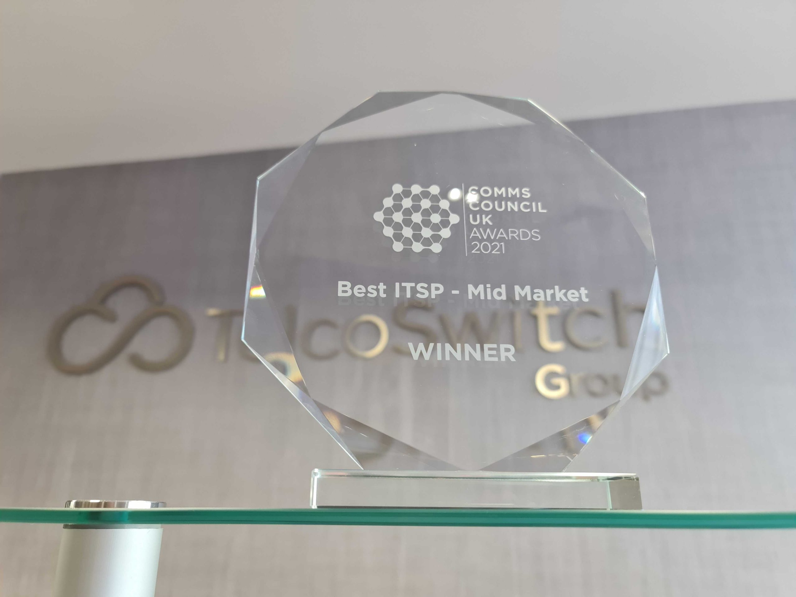 TelcoSwitch wins at the Comms Council UK Awards 2021